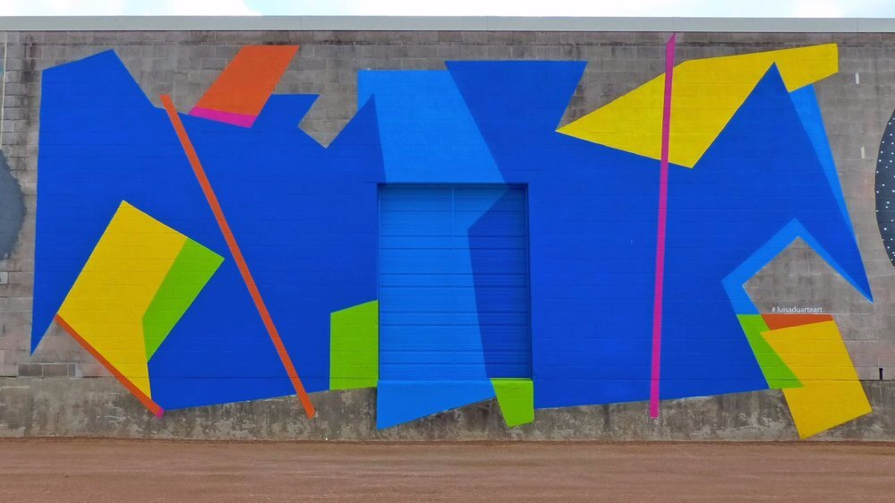 Luisa Duarte, Art Wall 2016, Washington Arts District, 1502 Sawyer Street, Houston, Texas Houston, Texas, 41' long by 21' high. Photo: William Guaregua.