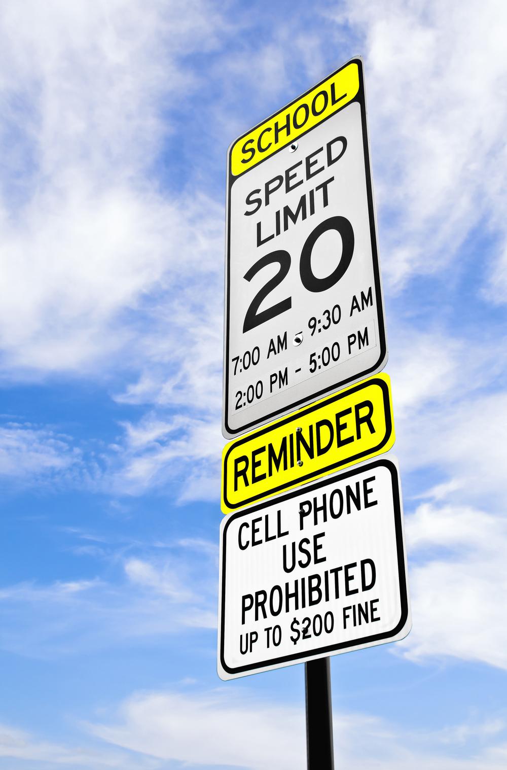Ticket for Speeding in a School Zone