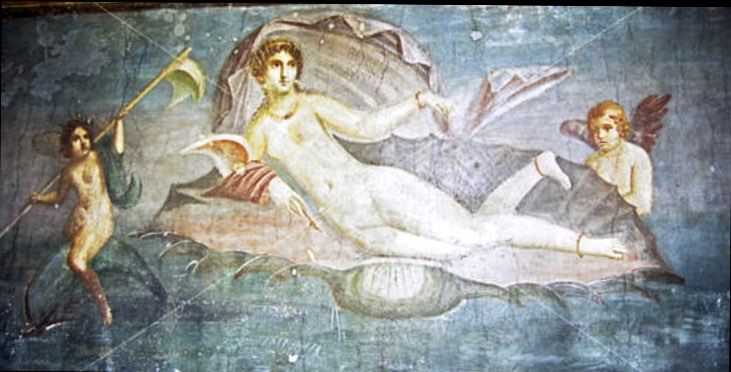 "Apelles of Cos ""Venus"" Fresco Pompeii"