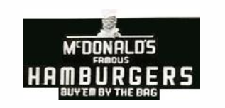 mcdonalds second logo, mcdonalds famous hamburgers