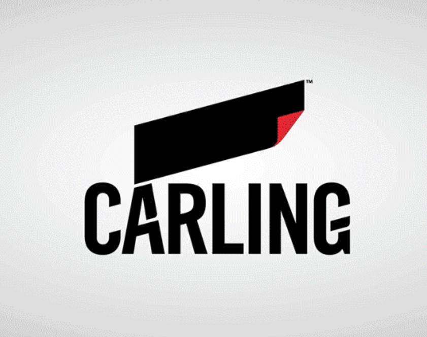 CARLING 2017 REBRAND WITH BRANDOPUS NEW LOGO