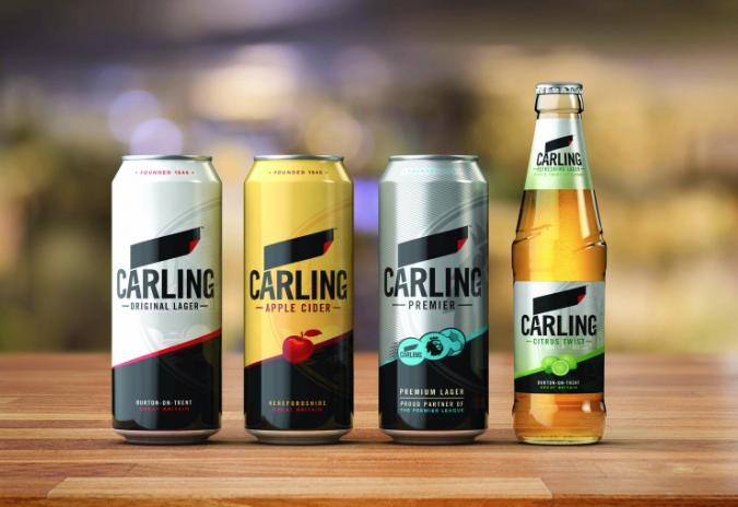 carling 2017 packaging rebrand with brandopus