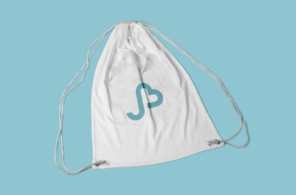 jb bag mockup drawstring gym fitness bag psd png