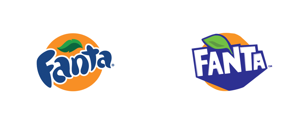 fanta logo, new old fanta orange logo