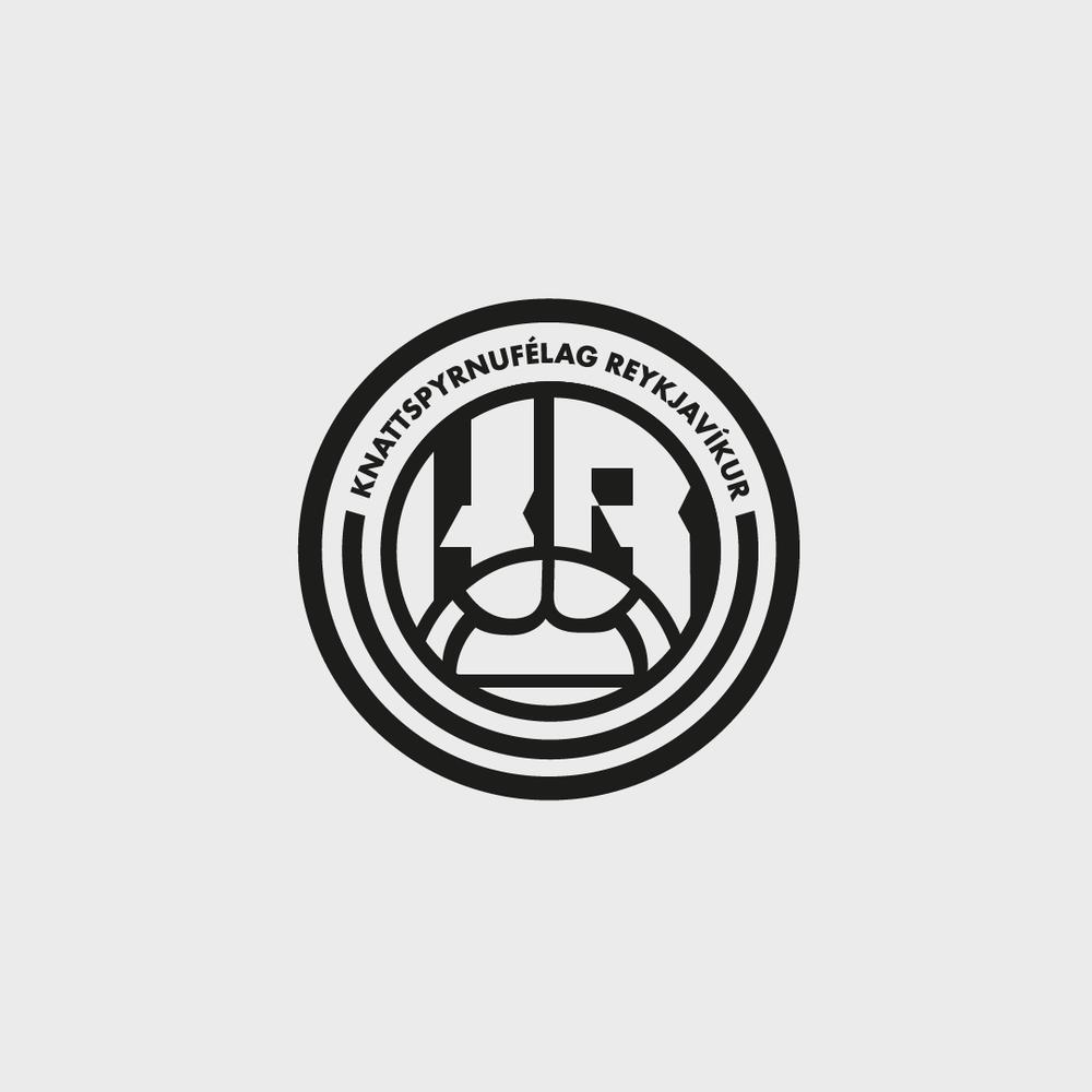 KR Reykjavik football logo badge iceland