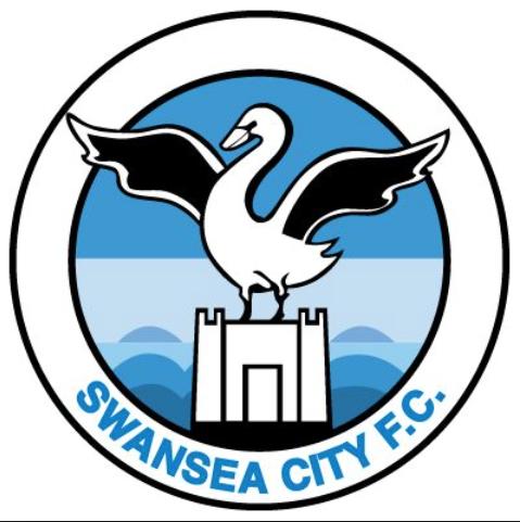 Swansea city logo badge club crest swans on castle