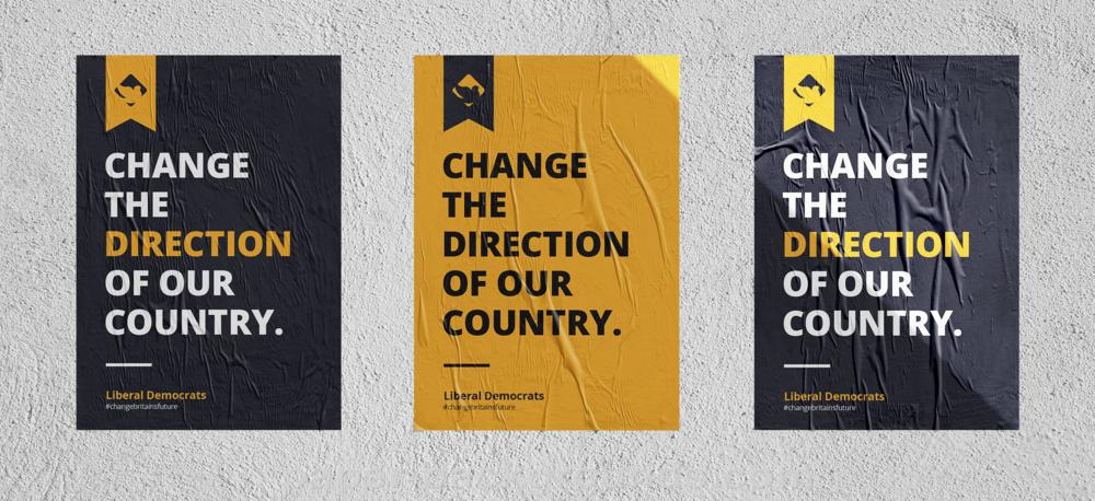 lib dems liberal democrats advert poster wall logo