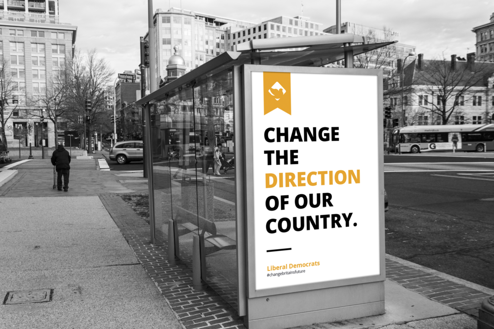 lib dems advert poster mockup street