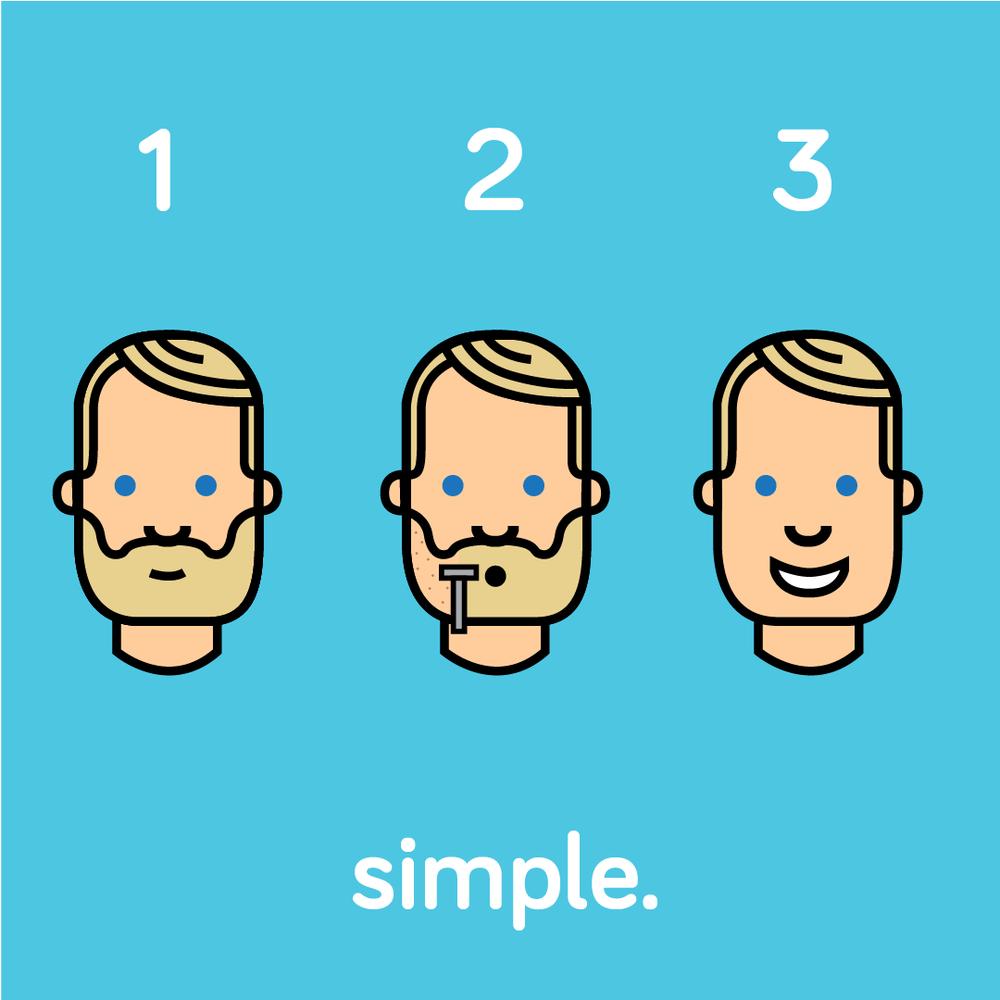 Simple Shave Club design