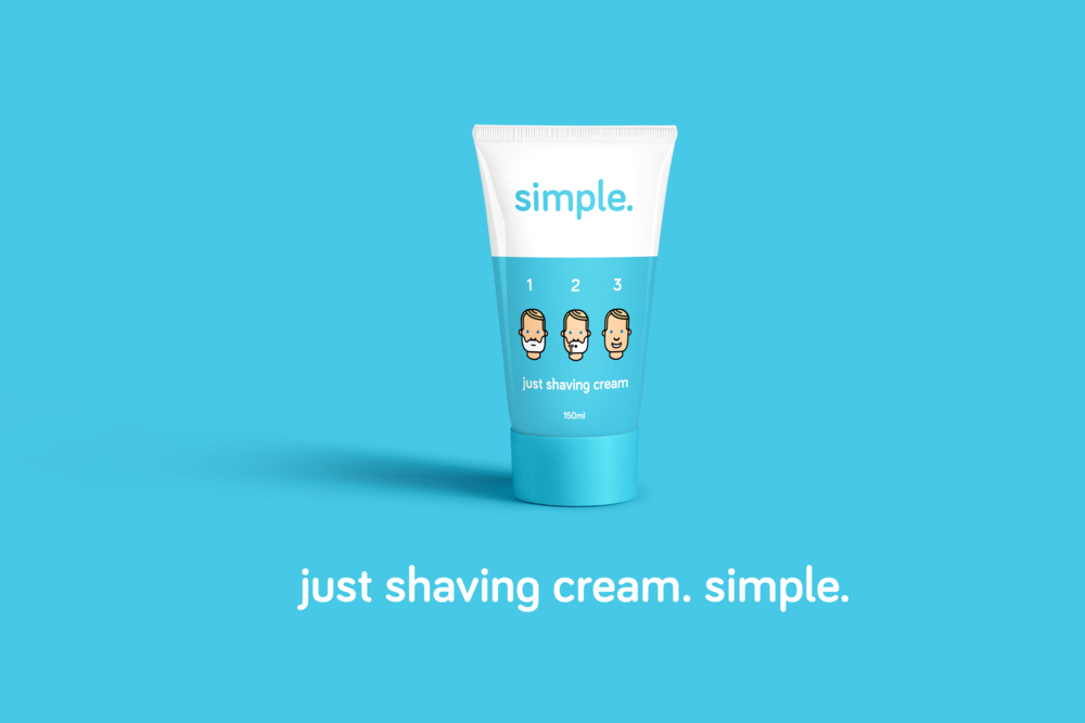 cosmetics shave club branding and packaging design