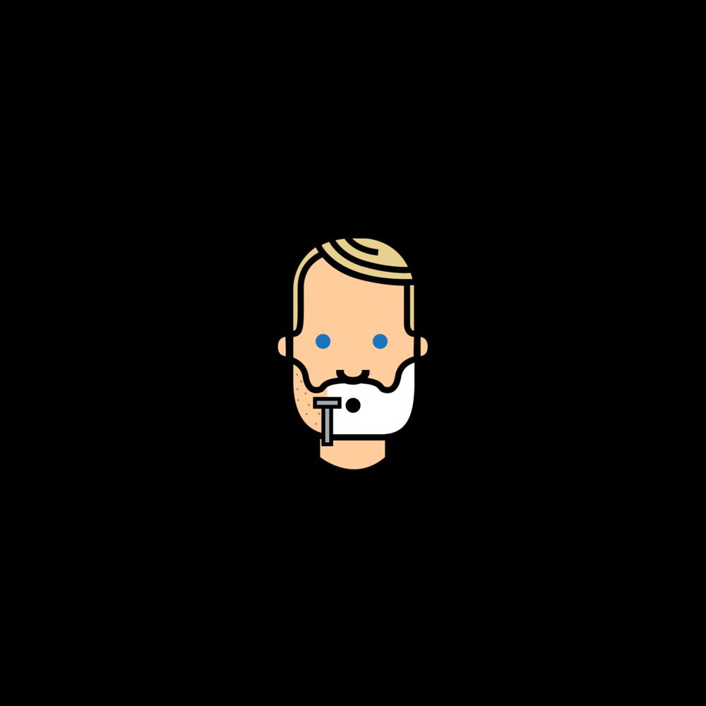simple shave head cartoon image