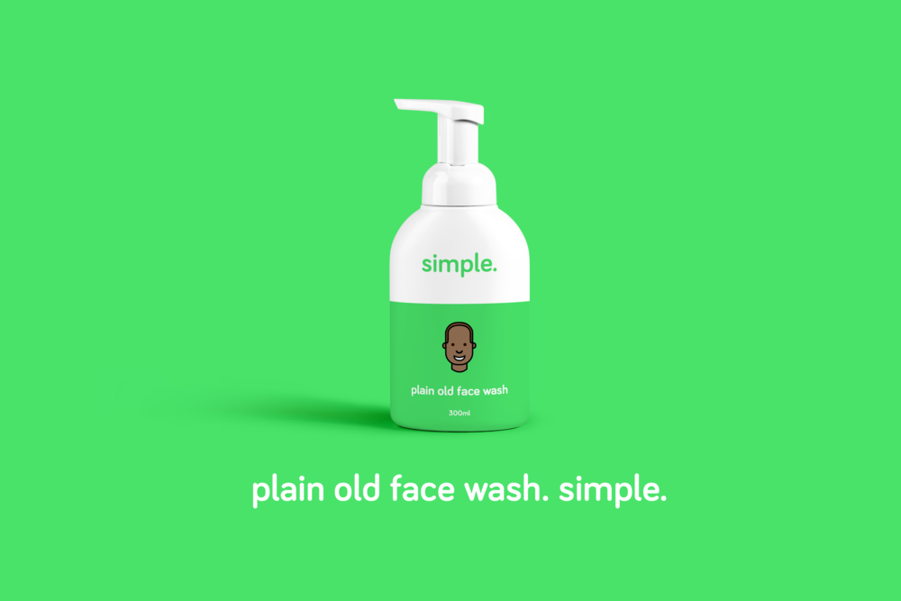 pain old face wash brand identity design packaging