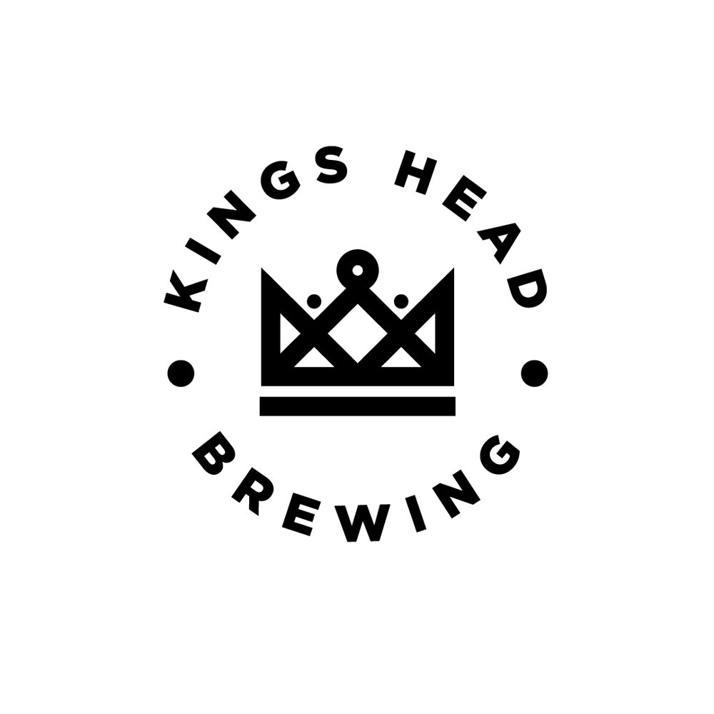 kings head brewing alternative logo design
