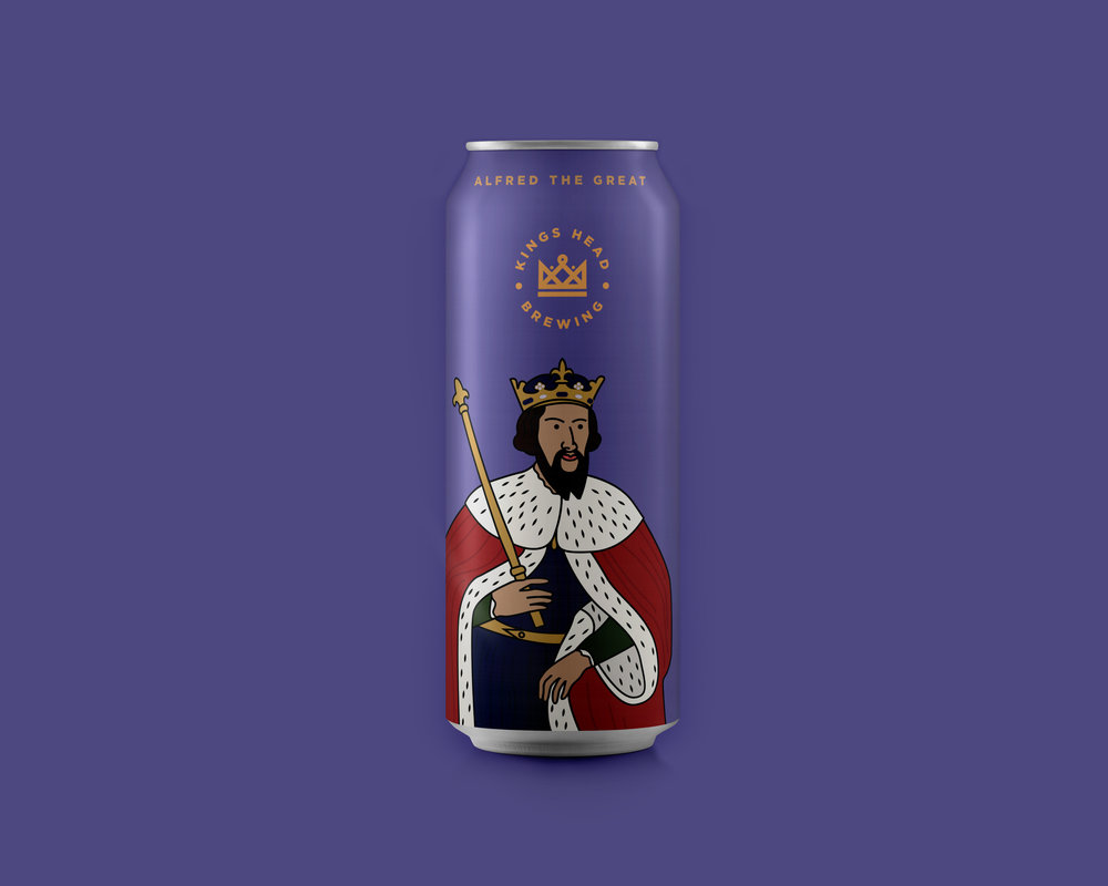 alfred the great beer can illustration