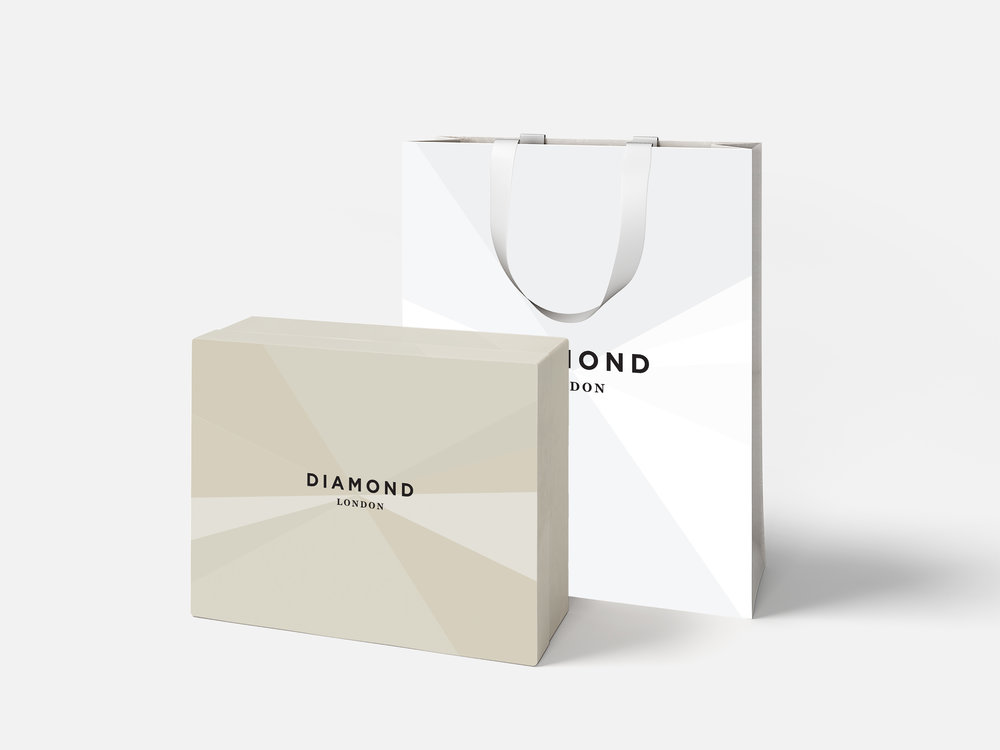 diamond london jewellery bag