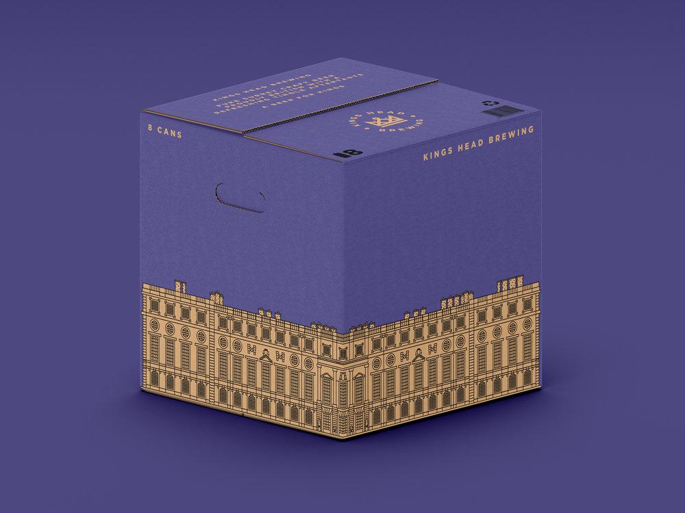 kings head brewing box design