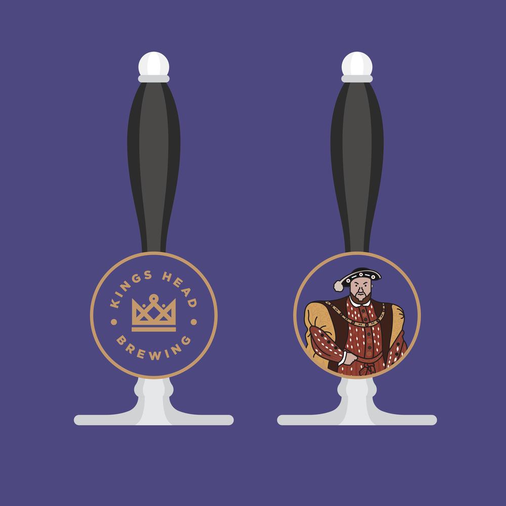 kings head brewing beer tap