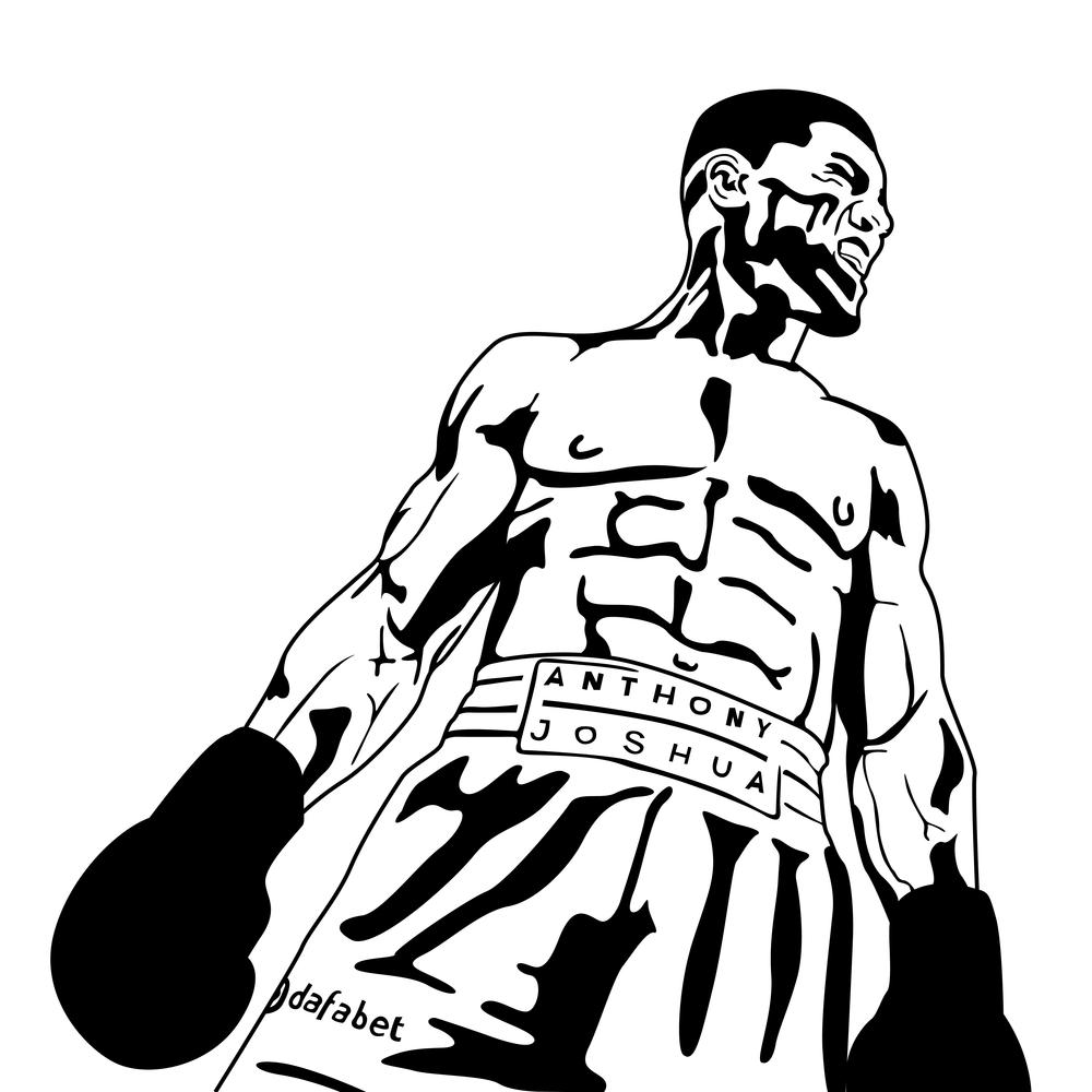 Anthony Joshua illustration boxing