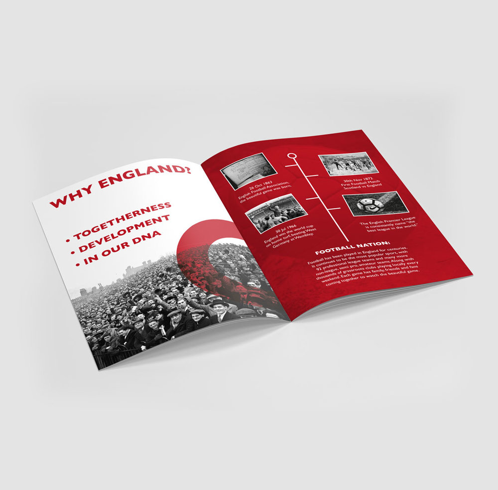 England World Cup 2030 brochure