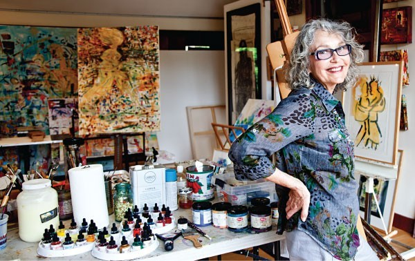 Rosalind Brenner in her East Hampton Studio.