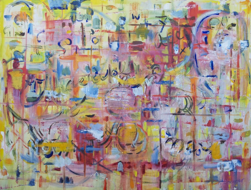 "Now 2010 30"" x 40"" Mixed Media on Canvas"