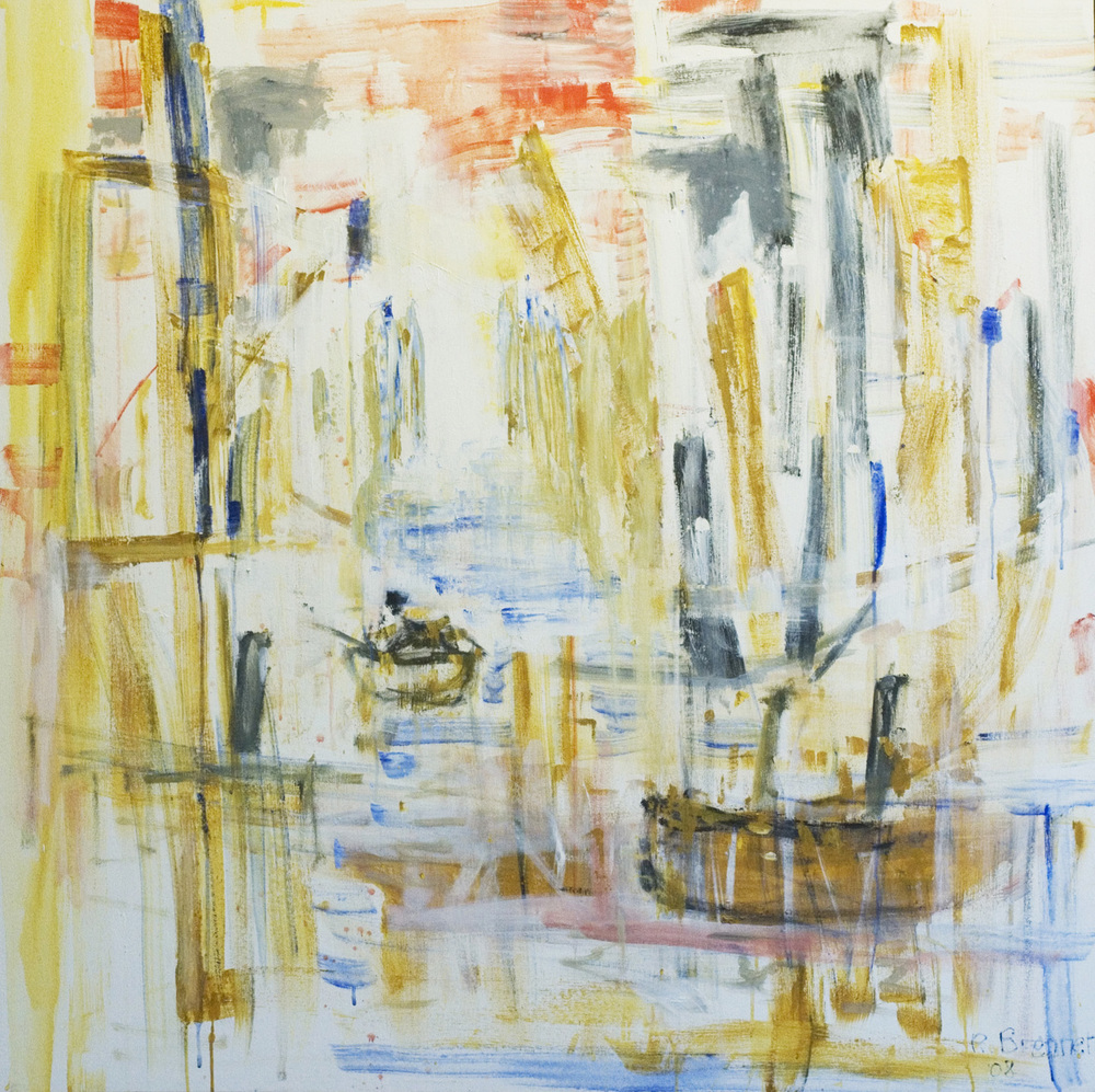 "City Dock (Passage) 2005 48 x 48"" Acrylic on Canvas"