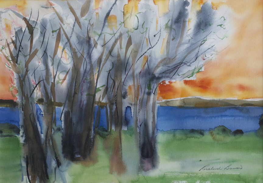 "Salter's Trees 1996 14 1/2"" x 20 1/2"" Watercolor on Paper"