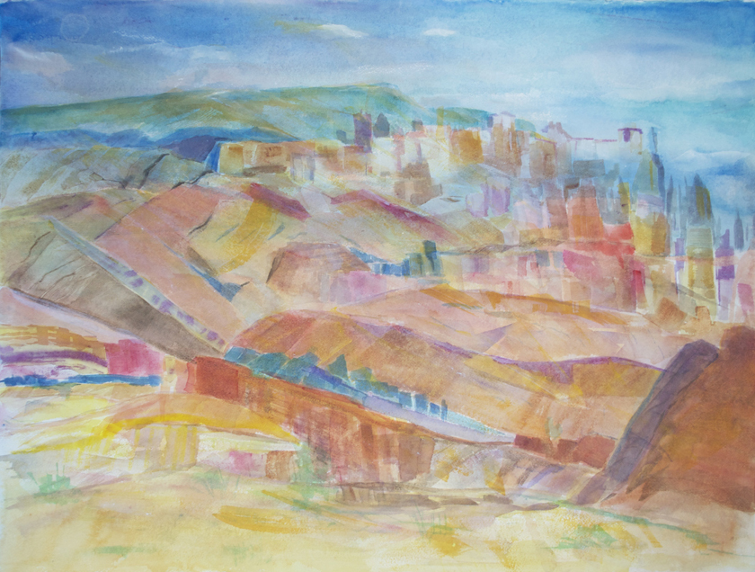 "Bryce Canyon 2002 22"" x 30"" Watercolor on Paper"