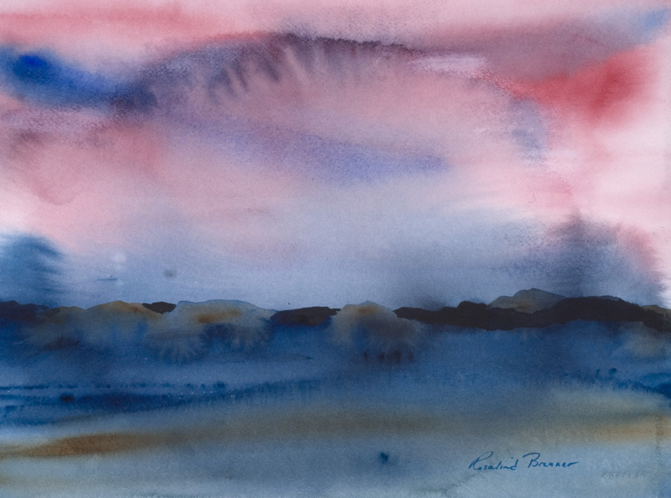 "Big Sky 2003 15 1/2"" x 19 1/4"" Watercolor on Paper"