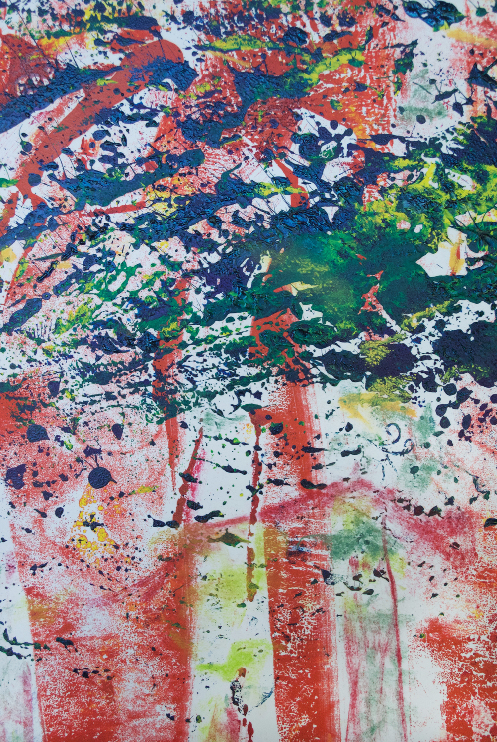 "Detail  Red Riding Hood  22.75 x 15"" Oil Ink Monotype on Paper"