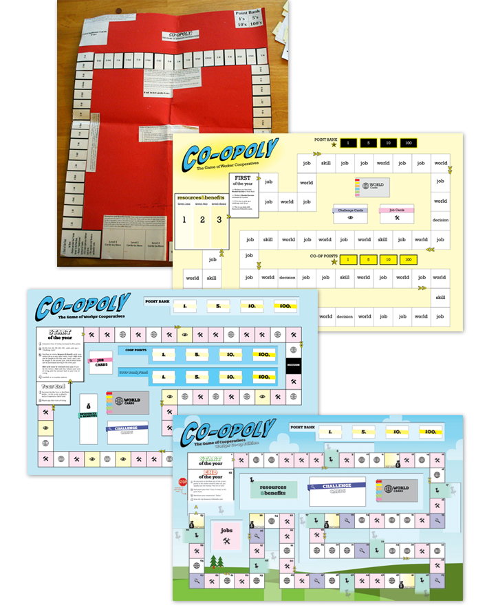 Early versions of the game board