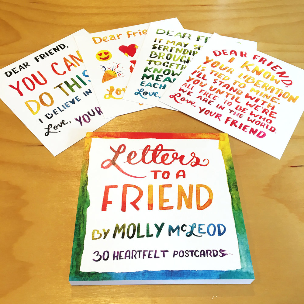 Letters To A Friend 30 Heartfelt Postcards Molly Mcleod