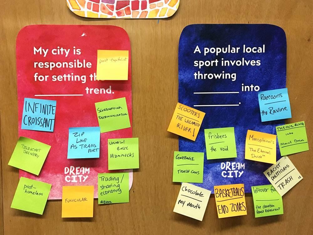 I also have an wall installation version of the game available for events. - Engage with your community and see what everyone wants in their dream city — or the city you actually live in!