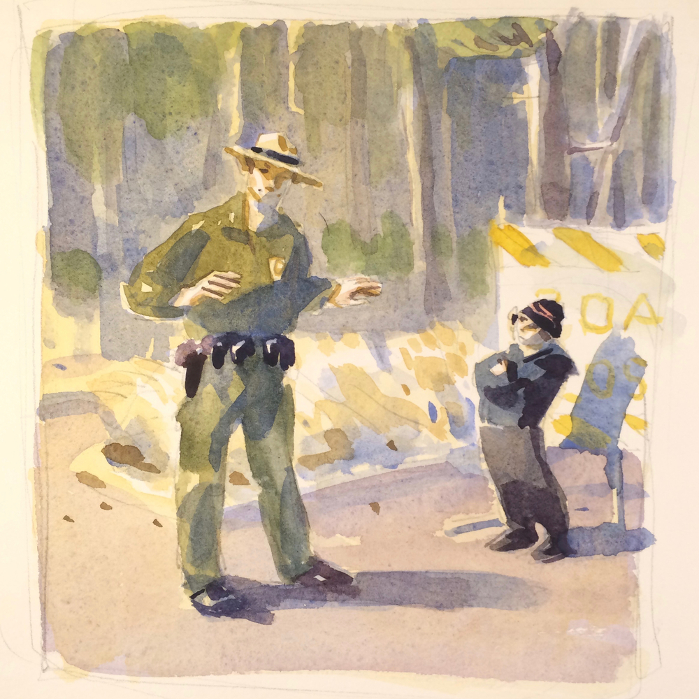 The Ranger Describes The Lake (study)