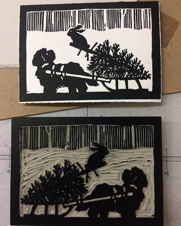 Bunny and Dog, A Christmas Card