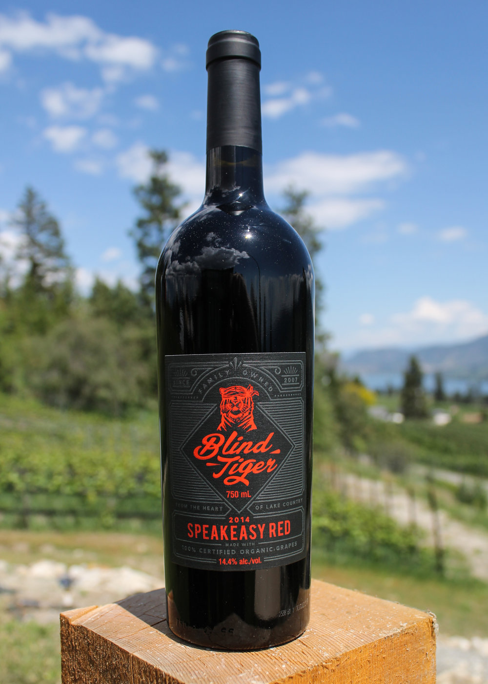 2014 Speakeasy Red - 2014 Speakeasy Red $36.95Our classic Bordeaux Blend (Meritage) style wine with Cabernet Sauvignon, Cabernet Franc, Merlot, and Syrah. Deep aromas of Lapin Cherry, Plum, Blackberry and Cedar. Barreled in American Oak, this full bodied wine is the choice of red wine lovers. Ensure to decant before drinking. The tannins of this wine will allow a long cellar life of up to 8 years plus.