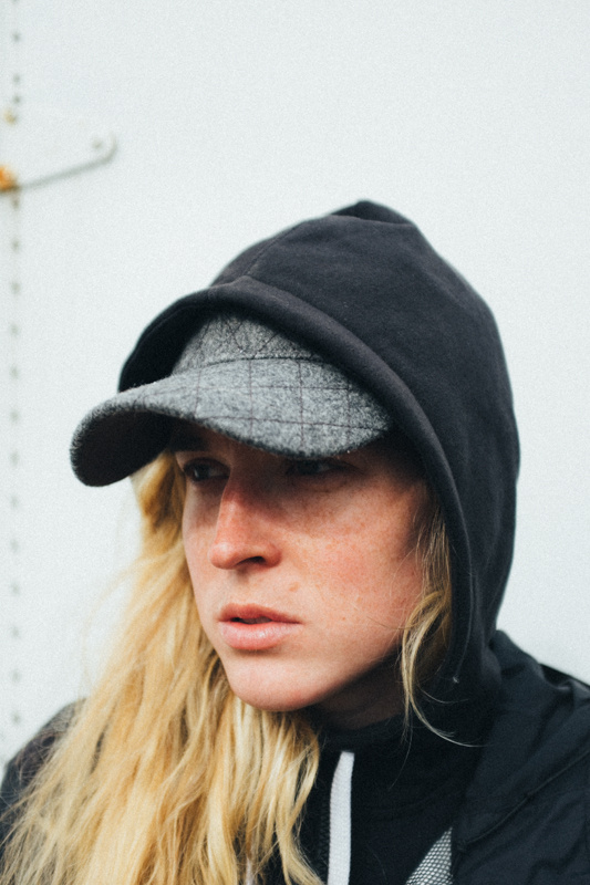 Kelley on set - Photo by Peter Larson