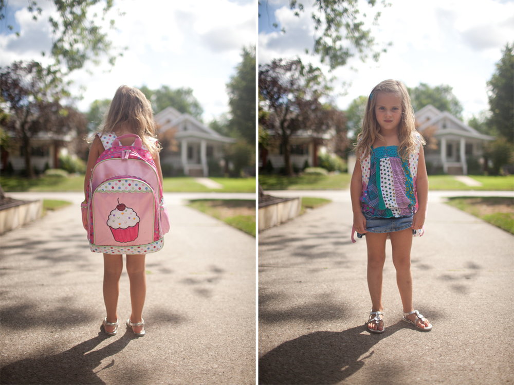 Anna's first day of school