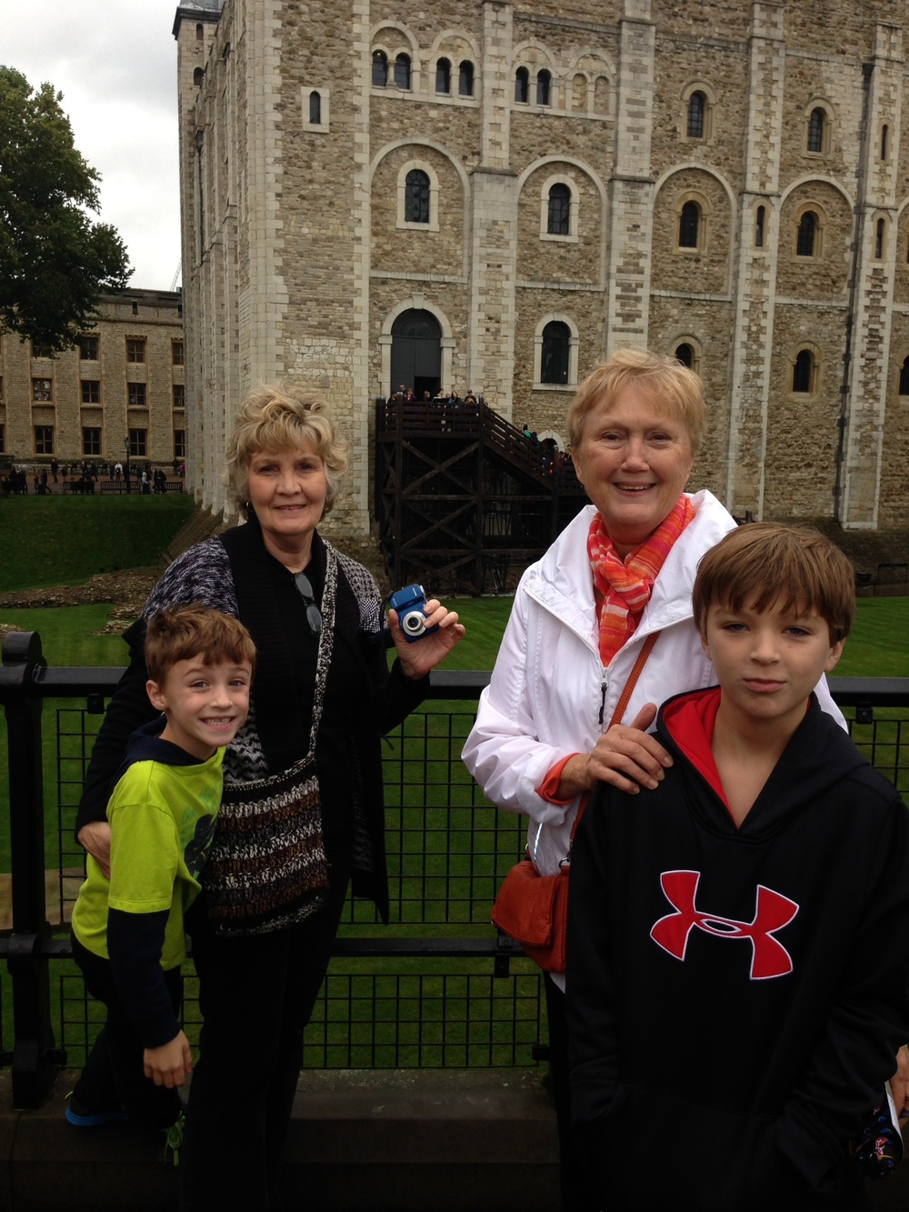My mom, my mother-in-law and my sons at the Tower of London in 2012. Margaret Douglas spent some quality time here on 3 occasions.