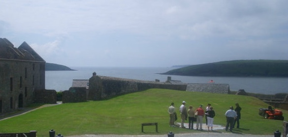 At Charles Fort, near Kinsale, looking out to sea.