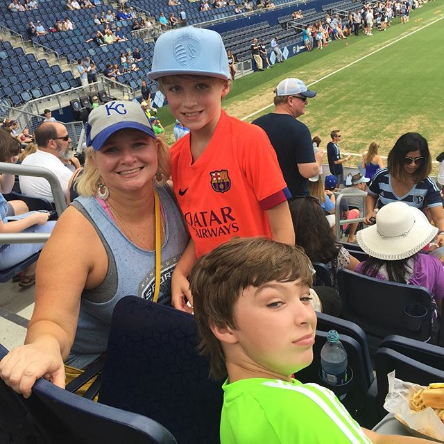Soccer at 2pm in July.....it.is.hot #boymom #sportingkc #mls #goal #summer2016 #tryingtostayhydrated #hotterthanhell #bluehell