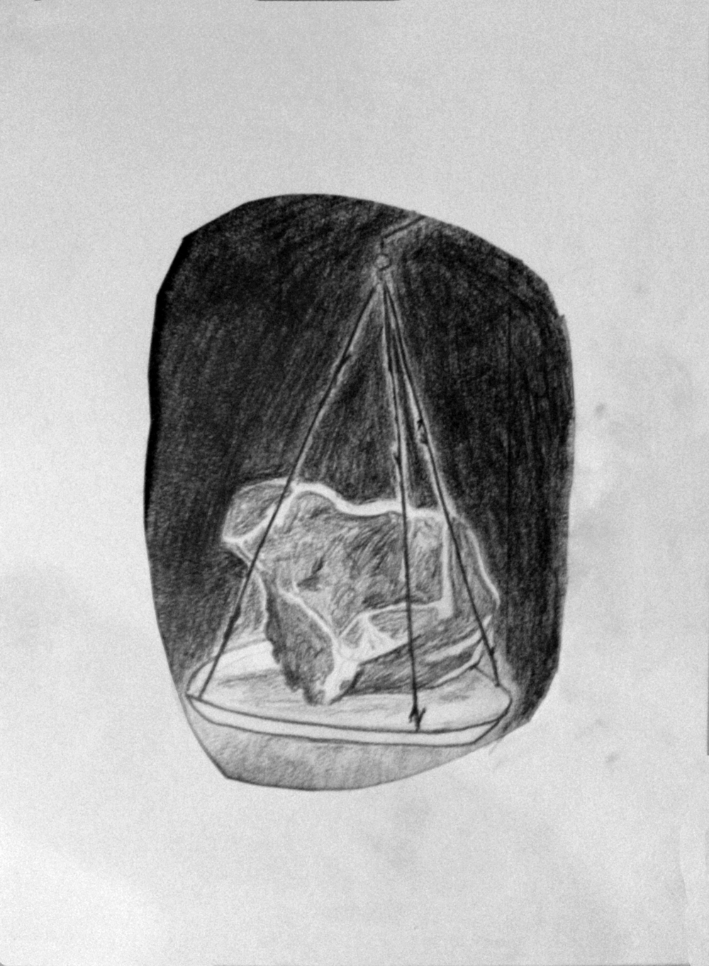 "Meat   Graphite on paper  11.75"" x 15.75"""