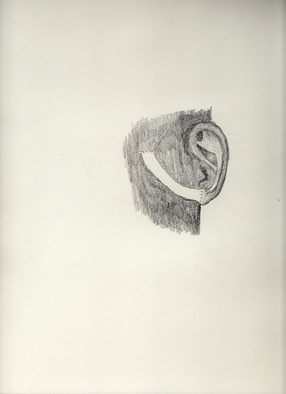 "Ear Eye   Graphite on paper  11.75"" x 16"""