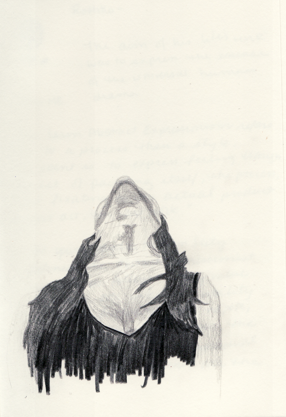 "Bonnie   Graphite on paper  8.25"" x 5.5"""
