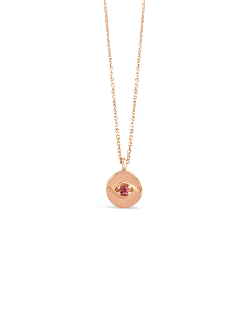Evil Eye Necklace in Rose Gold