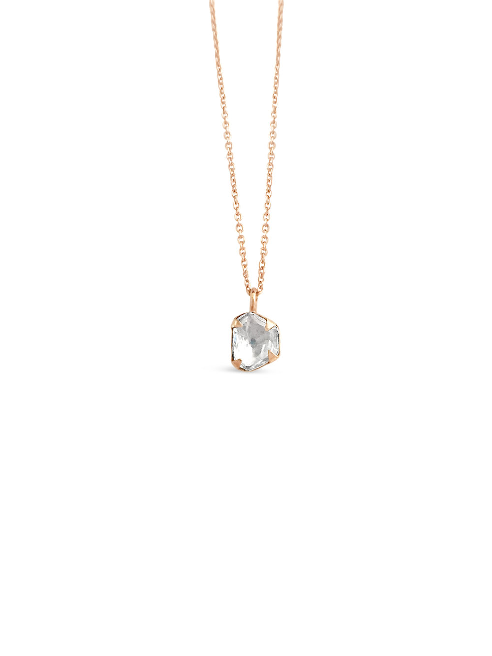 Primrose Diamond Necklace in Rose Gold