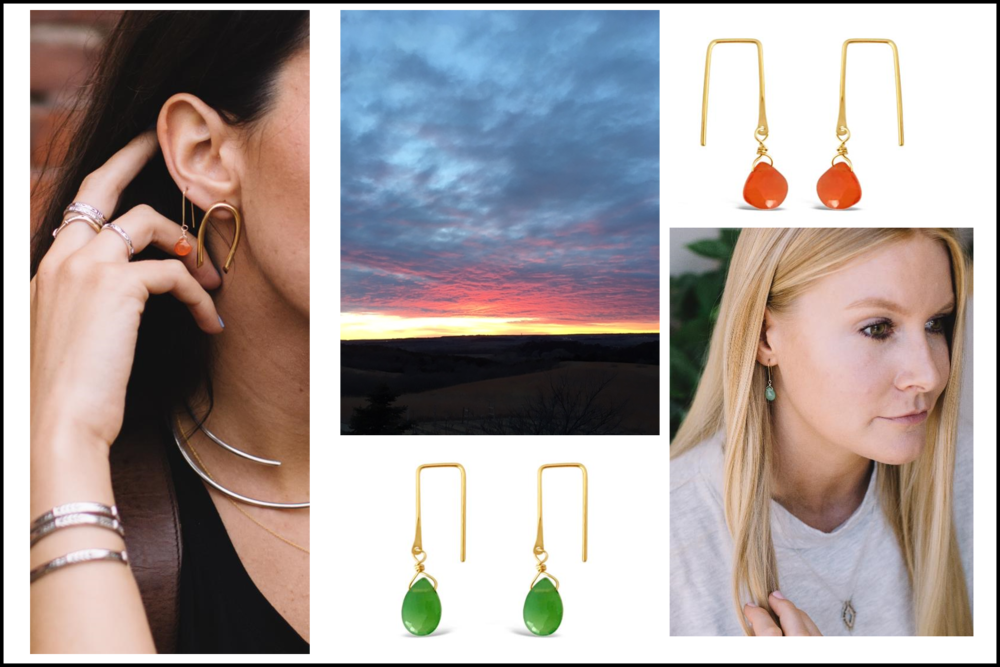 NEW SUNSET EARRING INSPO