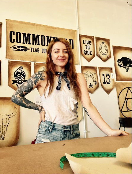 Taylor Triano. Badass/Owner of  COMMONWILD FLAG CO .