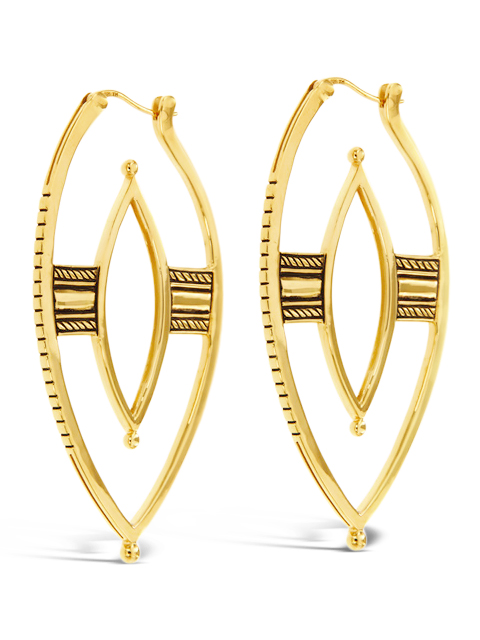 The Warrior Earrings: $270