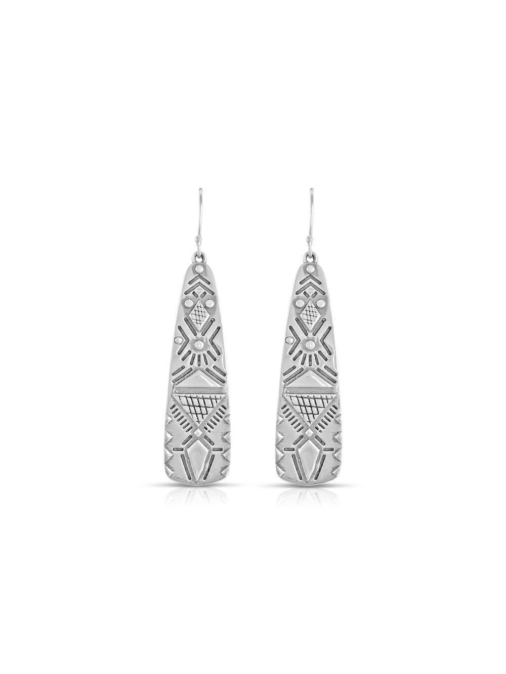 Sierra Winter Jewelry Kaw Earrings Front Silver.jpg